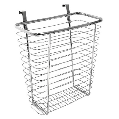 "InterDesign Axis Over-the-Cabinet Steel Wastebasket - Chrome (14"")"