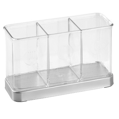 InterDesign Forma Stainless Steel Flatware Organizer - Brushed/Clear