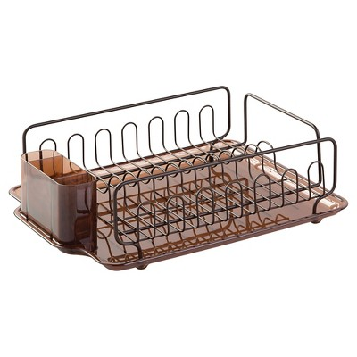InterDesign Forma Lupe Dish Drainer - Amber/Bronze (Large)