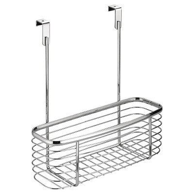 """InterDesign Axis Over-the-Cabinet X2 Storage Basket - Chrome (11"""")"""