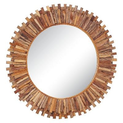 Go Home Sunshine Wall Mirror - Brown