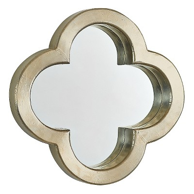 Go Home Profile Clover Wall Mirror - Matte Silver