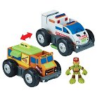 Teenage Mutant Ninja Turtles Half Shell Heroes -Ambulance to Pizza Delivery Truck with Mikey