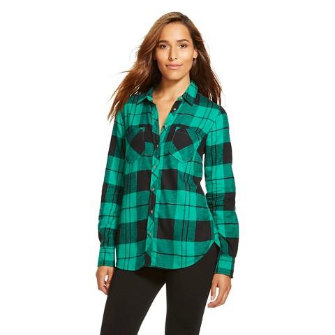 Women 39 s plaid flannel favorite shirt merona target for Womens christmas flannel shirt