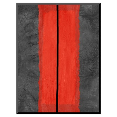 Art.com Decorative Wall Panel Grey and Abstract 5 - Red