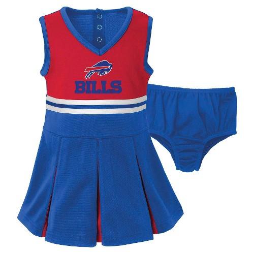 Buffalo Bills Toddler Infant Cheerleader Set