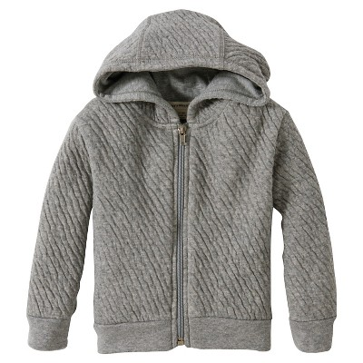ECOM Burts Bees Baby™ Newborn Long-sleeve Hoodie - Heather Grey 3-6 M
