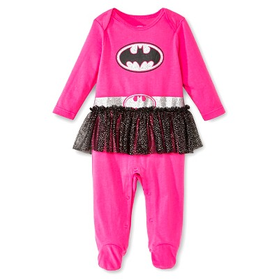 Bat Girl Newborn Girls' Coveralls with Tutu - Pink 3-6 M