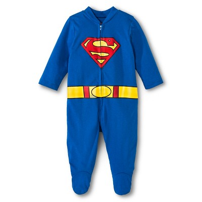 Superman Newborn Boys' Coveralls - Blue 0-3 M