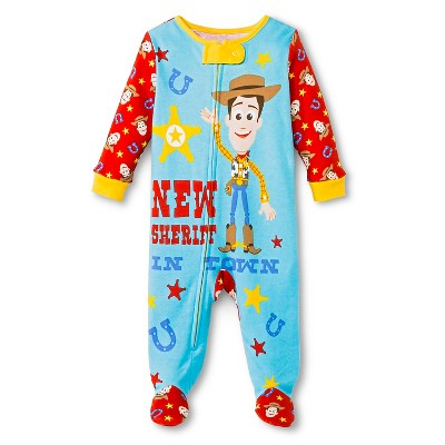 Disney Boys' Footed Sleepers Blue/Red 6-9M