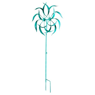 Ecom Garden Stake EVERGR Turquoise 39.4in