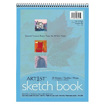 Pacon® Artist's Sketch Book, Unruled, 80lb, 9 x 12 - White (30 Sheets)