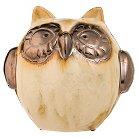 Evergreen Metallic Shimmer Owl Portly Statuary