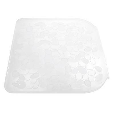 InterDesign Pebblz Plastic Sink Drainboard - Clear (Large)