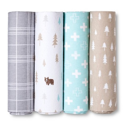 Circo™ 4pk Flannel Receiving Blankets - Little Cub