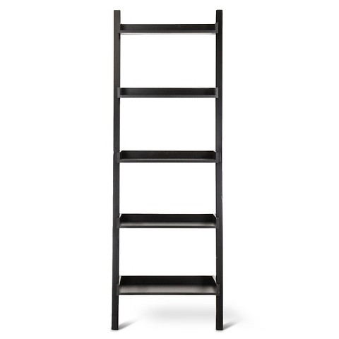 Leaning Bookcase Target Lowry Leaning Bookcase Black