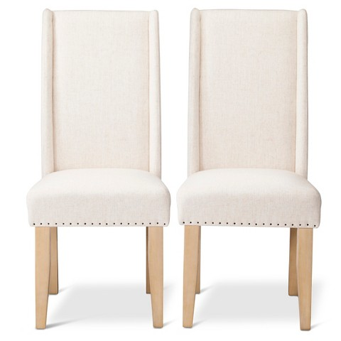 Charlie Modern Wingback Dining Chair with Nailhe Tar