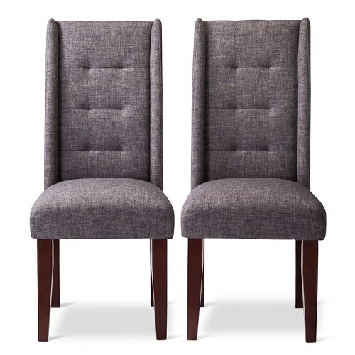 Charlie Modern Wingback Dining Chair Set of 2 eBay : 18786171wid500amphei500 from www.ebay.com size 500 x 500 jpeg 50kB