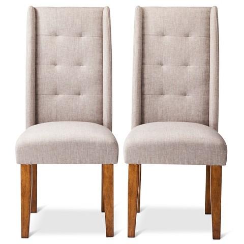 Charlie Modern Wingback Pin Tuck Dining Chair S Tar
