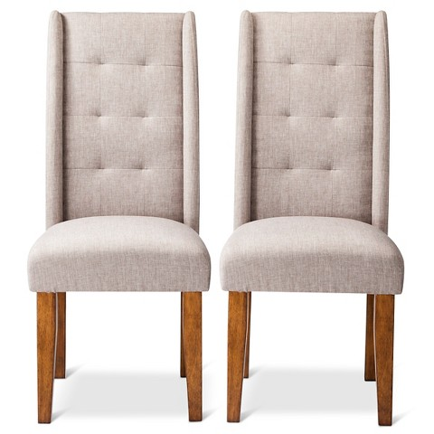 Charlie Modern Wingback Pin Tuck Dining Chair S Target
