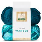 Wool Blend Yarn 2pk - Blue - Hand Made Modern