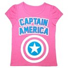 Toddler Girls' Captain America T- Shirt - Pink 2T