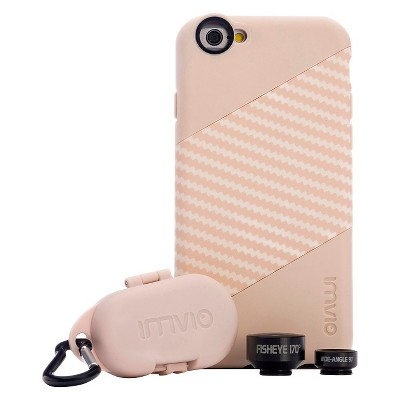 iPhone 6/6S Case & Lens - Imvio Optics Kit - Sand