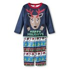 Toddler Reindeer 2-Piece Pajama Set Blue 12 M - EV Holiday™