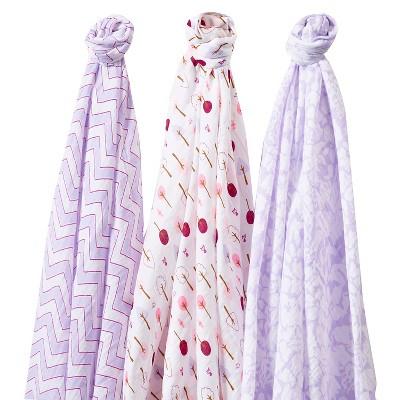 SwaddleDesigns® SwaddleLite® 3pk Blanket - Lush Lite - Lavender