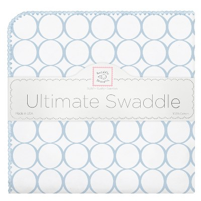 SwaddleDesigns® Ultimate Receiving Blanket - Mod Circles - Pastel Blue