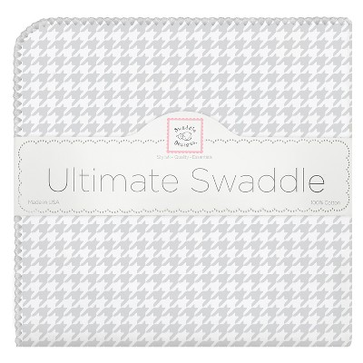 SwaddleDesigns® Ultimate Receiving Blanket - Houndstooth - Sterling