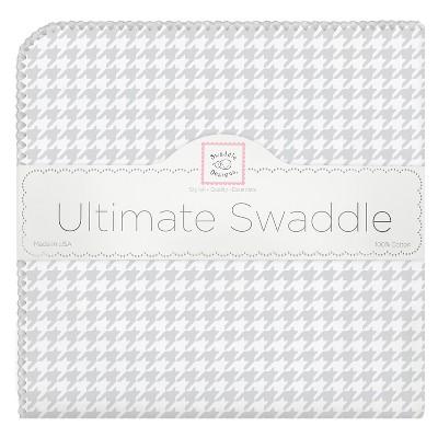SwaddleDesigns® Ultimate Receiving Blanket - Houndstooth - Sterling