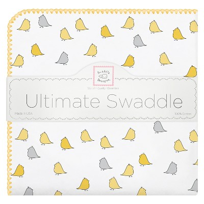 SwaddleDesigns® Ultimate Receiving Blanket - Little Chickies - Yellow