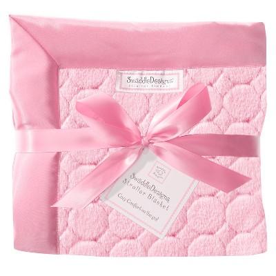 SwaddleDesigns® Fuzzy Stroller Blanket - Jewel Tones - Pink
