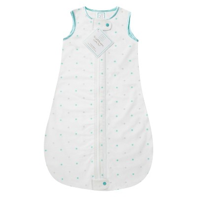 SwaddleDesigns® zzZipMe Sack® - Dot - SeaCrystal - 6-12 M