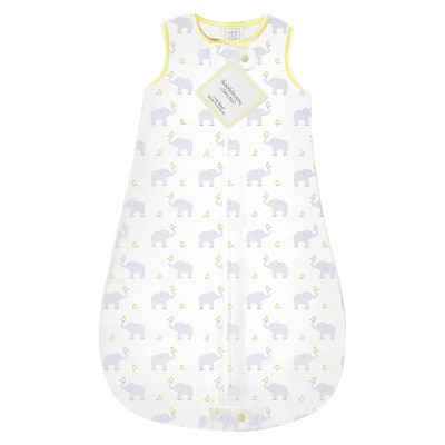 SwaddleDesigns® zzZipMe Sack® - Elephant - Pastel Yellow - 6-12 M