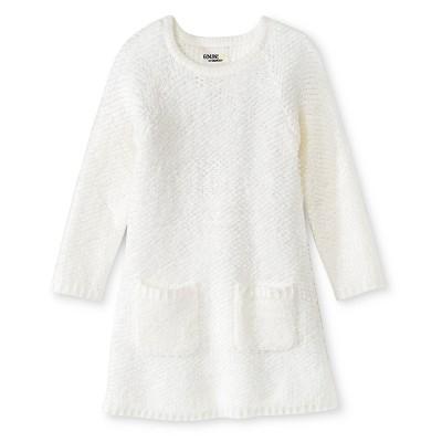 Toddler Girls' 2-Pocket Sweater Dress - Almond Cream 12 M