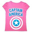 Toddler Girls' Captain America T- Shirt
