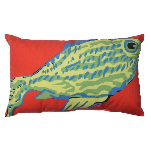 Blue Green Orange Throw Pillows : Pillow Perfect Blue-Green Fish Rectangular Throw... : Target