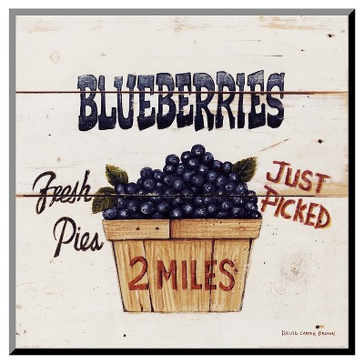Art.com Decorative Wall Panel Blueberries Just Picked - Blue