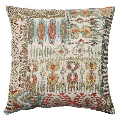 "Pillow Perfect Medley Throw Pillow - 16.5""x16.5"" - Multicolored"