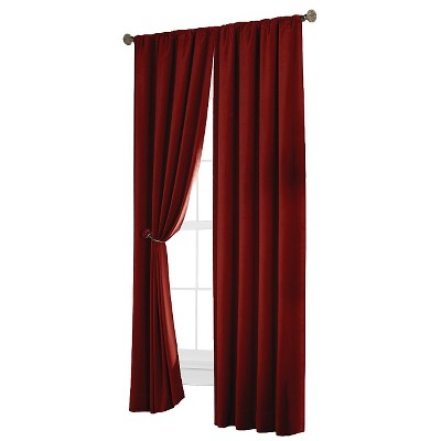 "Thermal Shield Velvet Blackout Curtain Panel - Red (40""x84"")"