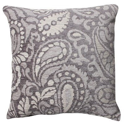 """Pillow Perfect Hyde Driftwood Throw Pillow -16.5""""x16.5"""" - Gray"""