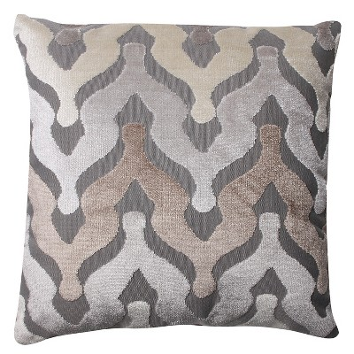 "Pillow Perfect Monroe Driftwood Throw Pillow - 16.5x16.5"" - Tan"
