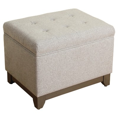 Plinth Base Ottoman - Gray - Threshold™