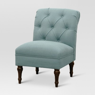 Tufted Rollback Slipper Chair - Seaglass Blue - Threshold™