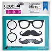 Yoobi Magnetic Mirror with Mustache & Glasses Stickers - Aqua