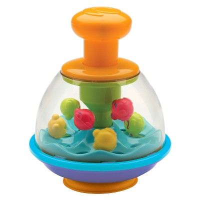 Infantino Topsy Turvy Press & Pop Spin Top