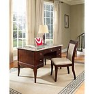 Marsha Desk and Chair Set Brown - Steve Silver Co.