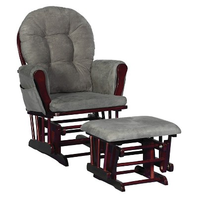 Stork Craft Hoop Cherry Glider and Ottoman - Gray